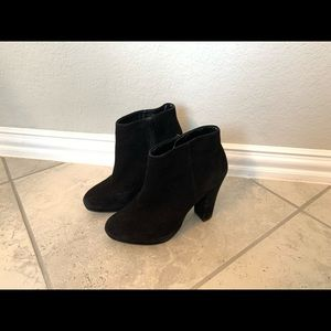 Aldo black suede ankle dress boots 6.5
